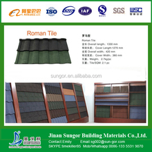 wood type colorful stone coated metal roofing tile of construction material classical tile