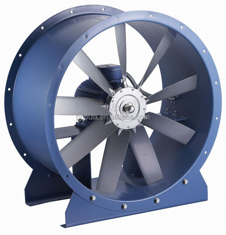 Axial Flow Fans : Large air flow axial fan wall mounted ventilation