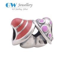 DIY European Style Bracelet 925 Sterling Silver Jewelry Wholesale Mushroom Charms
