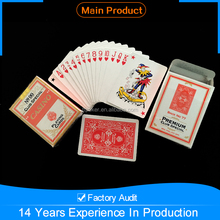 Promotional custom perfect fashion CASINO printed paper playing card