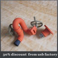 promotional gift 8GB pipeline shape pvc usb flash drives
