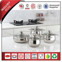 8pcs Stainless Steel Cookware Set with Capsule Bottom