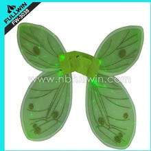 green carnival flashing fiber optic wings butterfly party accessory