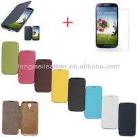 New Flip PU Leather Case Cover Smart Wake View For Samsung Galaxy S4 i9500,Colorful Flip Case For Samsung Galaxy S4 i9500