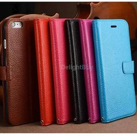 100% real leather 2014 Newest top layer genuine leather for iPhone 6/6s plus case real leather case cover