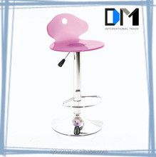 Factory Direct Sale Pure Color Pink Acrylic Swivel Bar Chairs from Anji Duomei