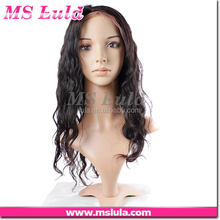 classical no shedding hot sale custom tag human hair u part wig