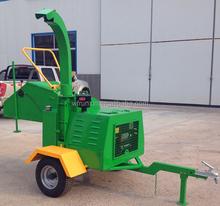 European style safe self powered Chinese wood chipper Yanmar diesel