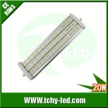 Main product 20w samsung 5630 107lm/w led r7s cold-rolled steel down fitting for Showroom/France