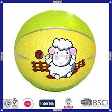 new design yellow rubber basketball