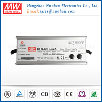 Meanwell 60W 42V Single Output Switching Power Supply led driver 42v dimmable/60w ul led driver/LED tube driver