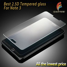 Ultra thin 2.5D 0.33mm transparent tempered glass screen protector for samsung note 3,for samsung note 3 glass screen protector