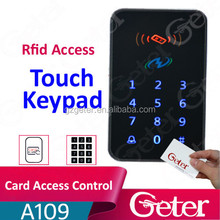 New arrival rfid Card + pin Touch Standalone Keypad Door Access Control JTL A109