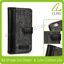 Wholesale High Quality Wallet Case Cover For Iphone 6 with TPU back cover