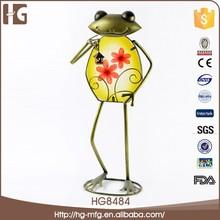 2015 Fashion custom frog shape metal christmas ornament import