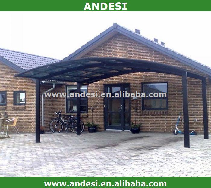 Plastic Carport Canopies : Aluminum carport with plastic arched roof buy