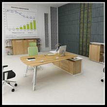 BT-211 2015 Modern Design L Shape White Cherry Office Desk