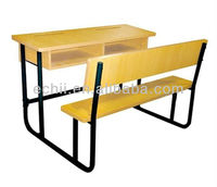 Double school desk and bench/Student desk and attached chairs/School desk and chair for sale