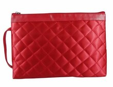 High Quality Plaid Quilted Satin Material Cosmetics Bags CT2180