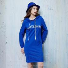 casual shaping hooded dress long sleeve hoodie European style dress