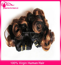 Best selling hair products spring curl ombre color virgin brazilian hair cheap human hair