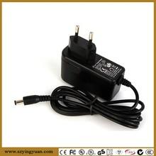 12W 12V 1A 5V 2A EU plug power adaptor for cctv,ip,hd camera,wifi receiver, antenna, set top box
