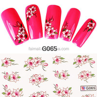 Charming 3D Nail Decal Water Transfer Manicure Nail Art Stickers Tips Decoration