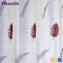 Alibaba China Wholesale 100% polyester soft decoration embroidery curtain