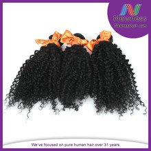 Most popular unprocessed can be dyed kinky curly weave cheap malaysian hair bundles