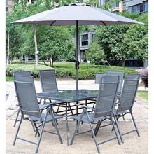 Outdoor durable garden table with umbrella folding table chair and umbrella