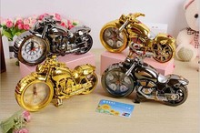 Motorcycle Alarm clock locomotive personalized fashion creative home gifts office desktop decoration digital process alarm