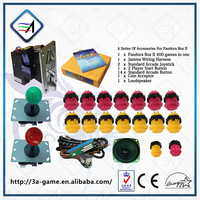 2015 Wholesale Cheap DIY Accessories Kits with 400 in Pandora's Box 2 Arcade Button Joystick Arcade Game Parts