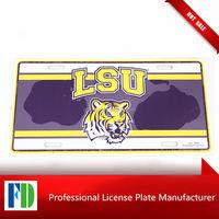 LSU license plate,number plate,motor bike decoration