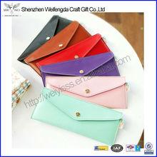 Handmade Colorful Leather Pen Bag Wallet