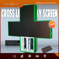 PanaTorch Alibaba hot supplier Led Cross Display Screen IP65 Waterproof P10RG latest product For medical center