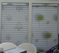 Solid printed Shangri-la blinds for living rooms