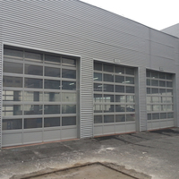 Automatic glass roll up garage door