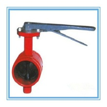 "Handle Grooved Fire Control Signal Butterfly Valve 2""~8"" made in China"