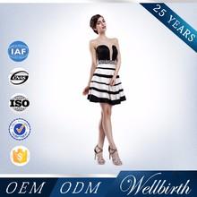 Latest Fashion Dresses Korean Modest Medium Length Evening Dress