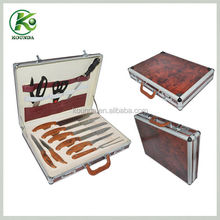 With high quality leather case knife