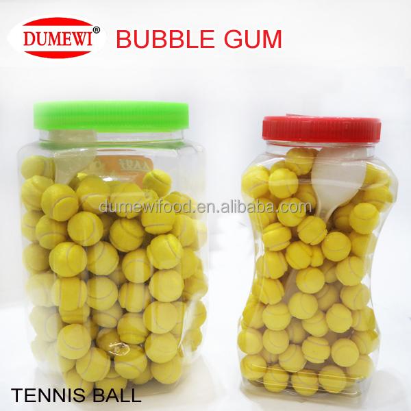 Bouteille Emballage Fruit Balle De Tennis Big Bubble Chewing Gum Gomme Id De Produit