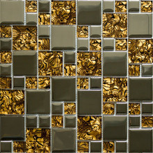Guangdong supply amber glass mix cladding glass decorative wall tiles