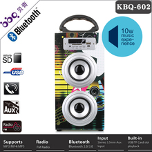 12 inch 10W usb memory card with handle doss wood bluetooth speaker 2014 brazil world cup promotion gift