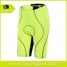 2015 Customized breathable compression fabric quick dry women's cycling/bicycle shorts with high quality