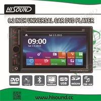 Double din car audio gps dvd universal with BT/radio