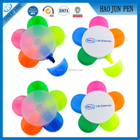 Cute Plastic Highlighter Pen Promotional Flower Ball Pen for Students