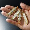 WT-P451 Wholesale bone carved leaf pendants, fashion white bone carved pendants