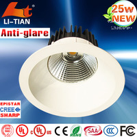 Super bright indoor cree harga lampu downlight for library/subway/shops