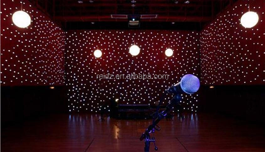 Fireproof Velvet Fabric Star Vision Stage Backdrop Rgb Led ...