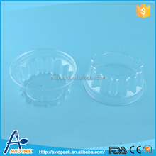 Specialized design eco friendly clear disposable plastic cylindrical food container